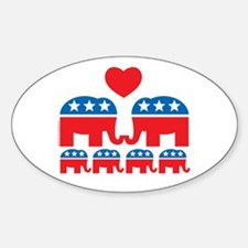Republican Family Oval Decal