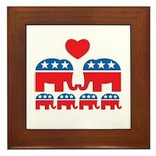 Republican Family Framed Tile