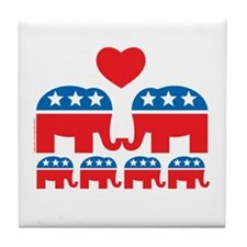 Republican Family Tile Coaster