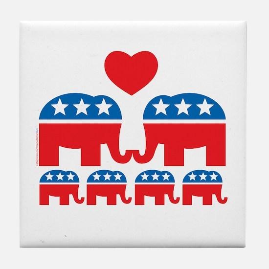 Republican Family Tile Coaster