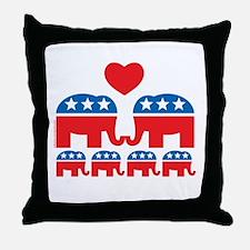 Republican Family Throw Pillow