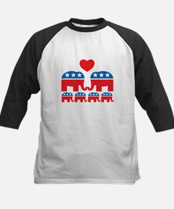 Republican Family Kids Baseball Jersey