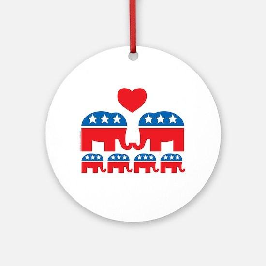 Republican Family Ornament (Round)