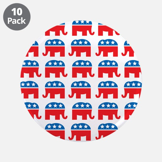 """Republican Rally 3.5"""" Button (10 pack)"""