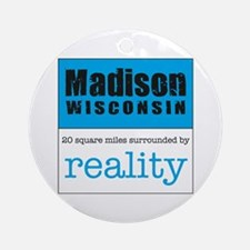 Madison Wisconsin Ornament (Round)