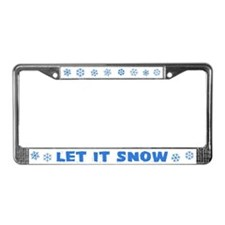 LET IT SNOW License Plate Frame