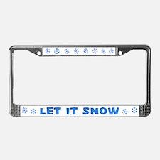 LET IT SNOW License Plate Frame