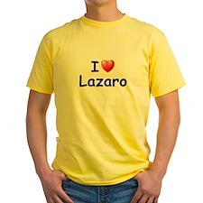 I Love Lazaro (Blue) T