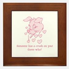 Crush On You Framed Tile