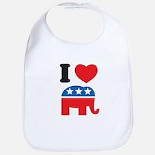 I Heart Republicans Bib
