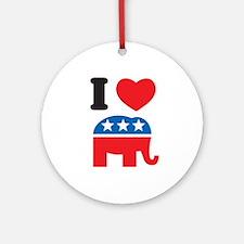 I Heart Republicans Ornament (Round)