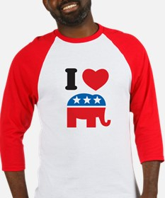 I Heart Republicans Baseball Jersey