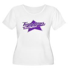 Baseball Westie Women's Plus Size T-Shirt