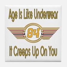 Funny 84th Birthday Tile Coaster
