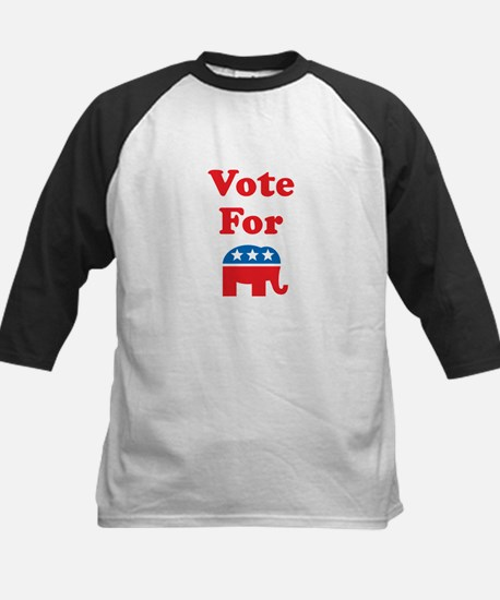 Vote For Republicans Kids Baseball Jersey