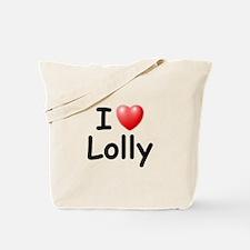 I Love Lolly (Black) Tote Bag