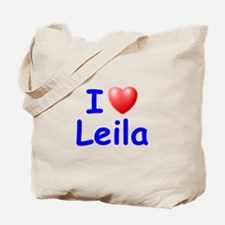 I Love Leila (Blue) Tote Bag