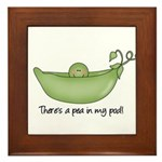 Pea in my Pod Framed Tile