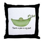 Pea in my Pod Throw Pillow