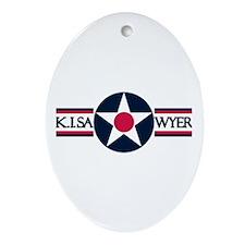 K. I. Sawyer Air Force Base Oval Ornament