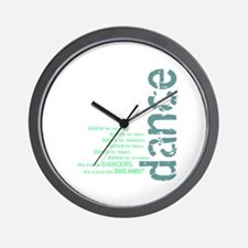 "Blue and Green ""We Create the Wall Clock"