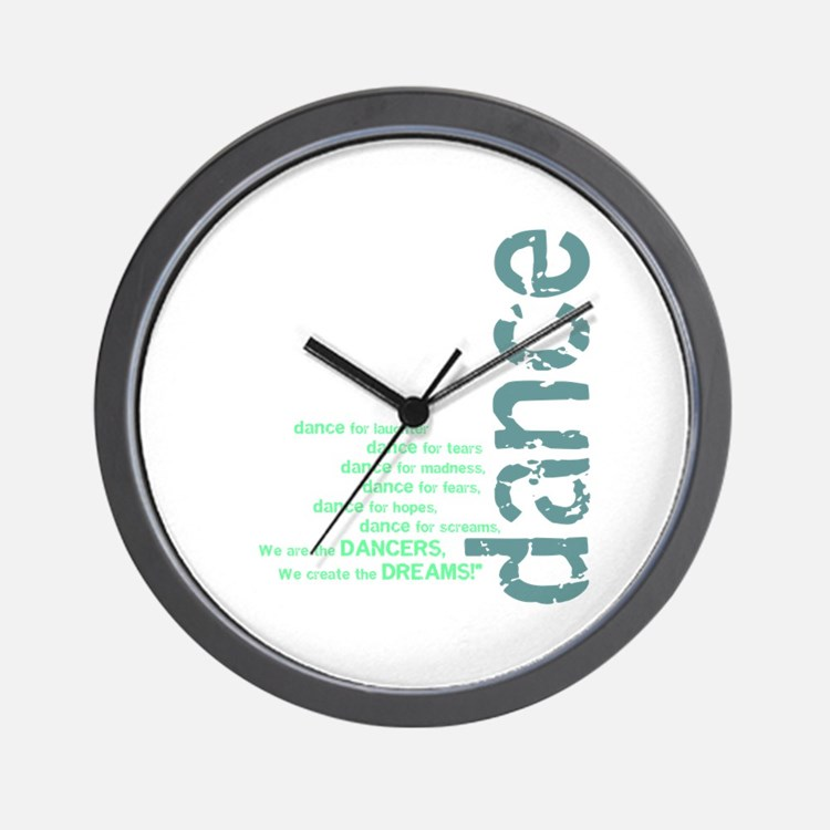"""Blue and Green """"We Create the Wall Clock"""