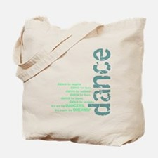 "Blue and Green ""We Create the Tote Bag"