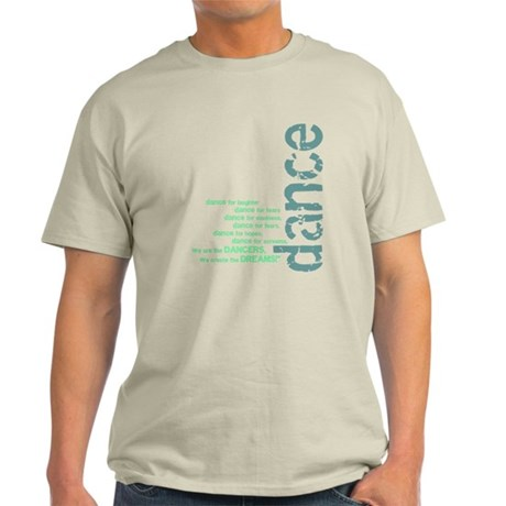 "Blue and Green ""We Create the Light T-Shirt"