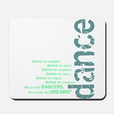 "Blue and Green ""We Create the Mousepad"