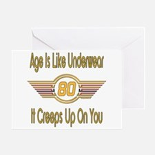 Funny 80th Birthday Greeting Card
