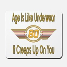 Funny 80th Birthday Mousepad
