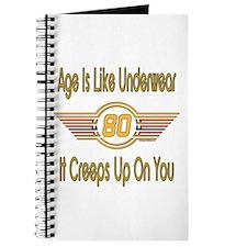 Funny 80th Birthday Journal