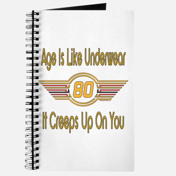 Funny 80th Birthday Journal