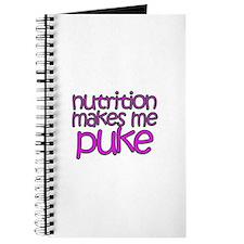 Nutrition makes me puke Journal