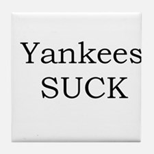 Yankees Suck Collection Tile Coaster