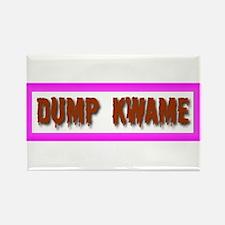 """Dump Kwame"" Rectangle Magnet"
