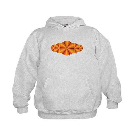 Orange Illusion Kids Hoodie