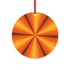 Orange Illusion Ornament (Round)