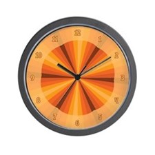Orange Illusion Wall Clock