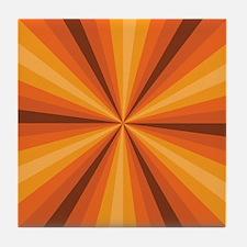Orange Illusion Tile Coaster