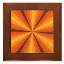 Orange Illusion Framed Tile