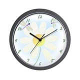 Dragonfly daisy clock Wall Clocks