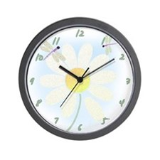 Lazy Summer Dragonflies Wall Clock