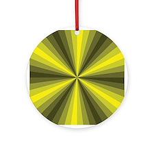 Yellow Illusion Ornament (Round)