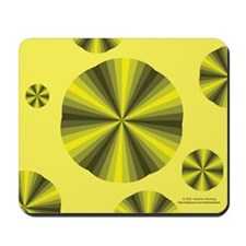 Yellow Illusion Mousepad