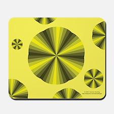 Yellow Illusion Mousepad