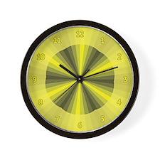 Yellow Illusion Wall Clock