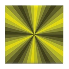 Yellow Illusion Tile Coaster