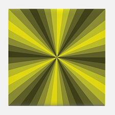 Yellow Illusion Tile Coaster