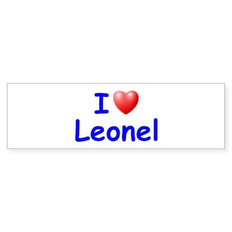 I Love Leonel (Blue) Bumper Sticker